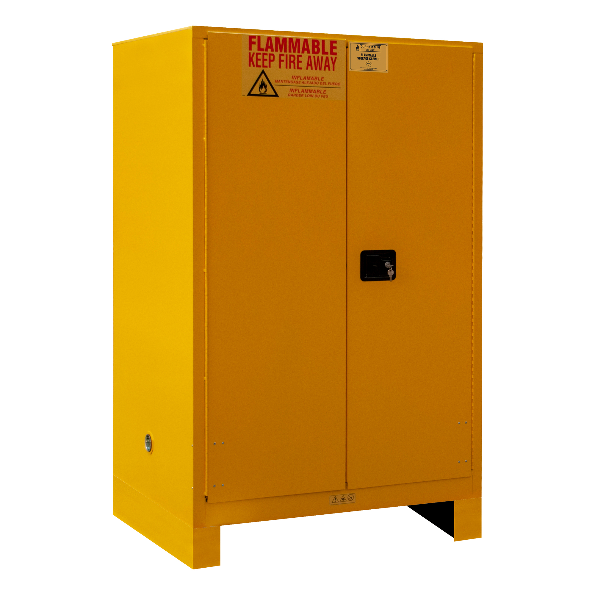 Flammable Storage 90 Gallon Manual Yellow Durham