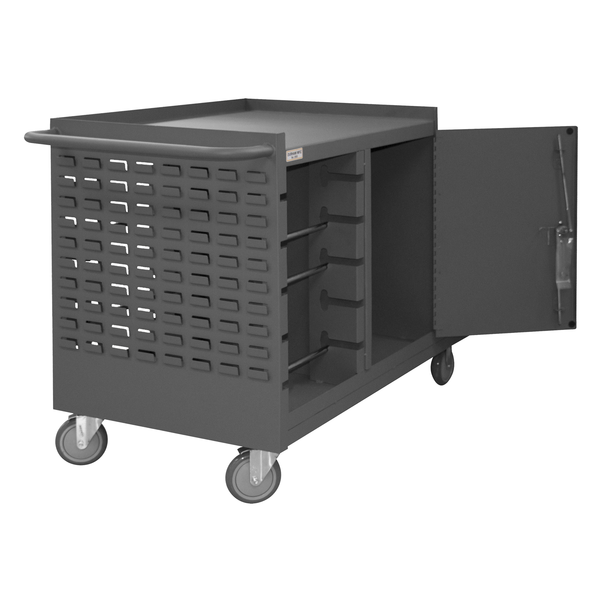 Mobile Wire Spool Amp Maintenance Cart 5 Rods Louvered